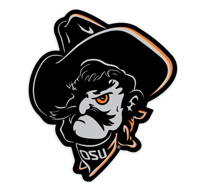 "Oklahoma State 3"" Phantom Pete Vinyl Decal"