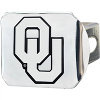 Oklahoma Sooners Real Chrome Metal Hitch Cover