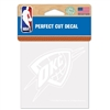 Oklahoma City Thunder 8x8 White Decal