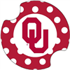 Oklahoma Sooner Carsters Absorbent Coasters Polka Dot