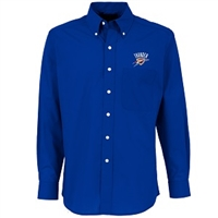 Oklahoma City Thunder Antiqua Button-Down Dynasty Shirt - Royal