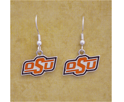 Oklahoma State Iridescent Logo Earrings