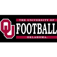 University of Oklahoma Football W/OU Logo Vinyl Decal