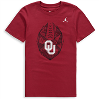 Oklahoma Sooners Jordan Brand Youth Team Icon T-Shirt – Crimson