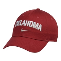 Oklahoma Sooners Nike Heritage 86 Wordmark Swoosh Adjustable Hat - Crimson