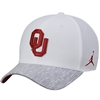 Men's Jordan Brand White Oklahoma Sooners Sideline Coaches Performance Adjustable Hat