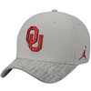 Men's Jordan Brand Grey Oklahoma Sooners Sideline Coaches Performance Adjustable Hat