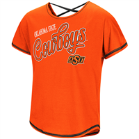 Oklahoma State Cowboys Girls Youth Criss Cross Back