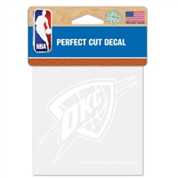 Oklahoma City Thunder 4x4 White Decal