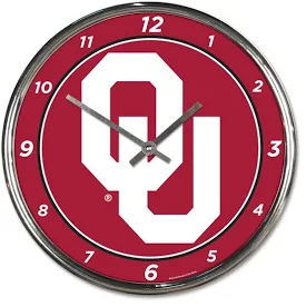 Oklahoma Sooner Chrome Clock