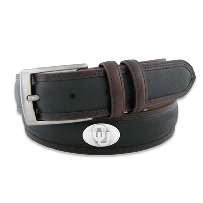 Oklahoma Sooner's Leather Two-Tone Concho Men's Belt