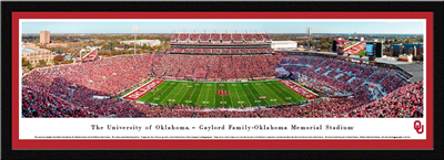 Oklahoma Sooner's Gaylord Memorial Stadium Panoramic Framed