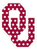 "Oklahoma Sooners 3"" Red Polka Dot Vinyl Decal"