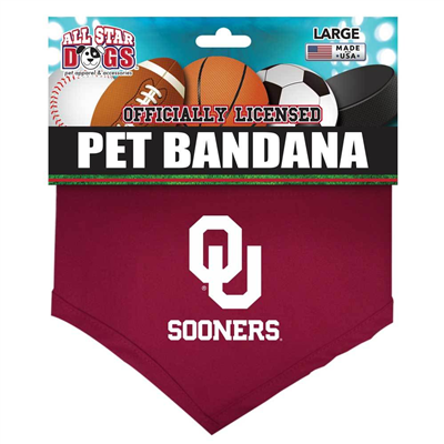 All Star Dogs Oklahoma Sooners Pet Bandana