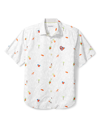 Oklahoma Sooners Beach Button Down
