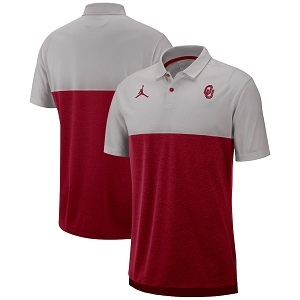 Jordan College OU Breathe Men's Polo - Crimson/Grey