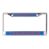 NBA Oklahoma City Thunder Licence Plate Frame Blue & Orange Mirrored