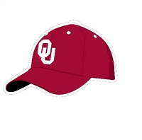 "Oklahoma Sooners Baseball Hat 3"" Vinyl Decal"