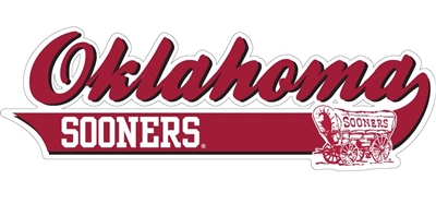 "Oklahoma Sooners 10"" Tail Vinyl Decal"