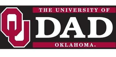 University of Oklahoma Dad /OU Logo Vinyl Decal