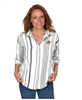 Oklahoma State Striped Button Up