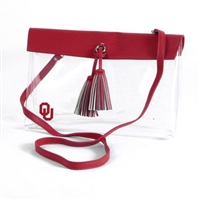 Oklahoma Sooners Clear Purse Large