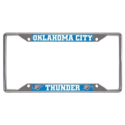 Oklahoma City Thunder Metal License Plate Frame