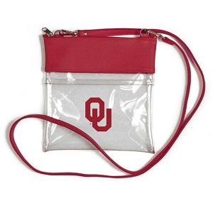 Oklahoma Sooners clear crossbody purse