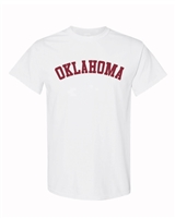 Oklahoma Youth White Tee
