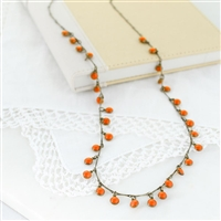 "Oklahoma State 36"" Dot Necklace"
