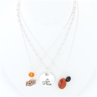 Oklahoma State Trio Necklace