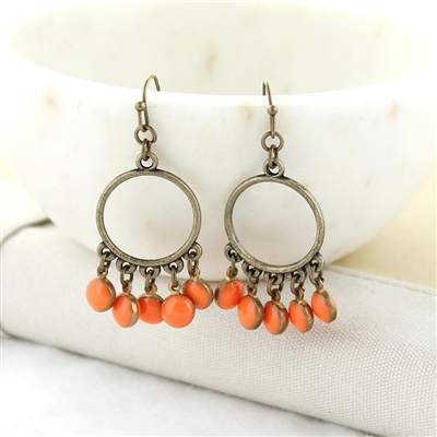 Oklahoma State Enamel Dot Earrings
