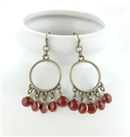 Oklahoma Sooners Enamel Dot Earrings