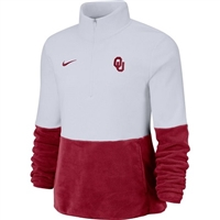 Oklahoma Sooners Nike Ladies Fleece Quarter Zip
