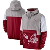 Oklahoma Sooners Nike Jordan Colorblock Anorak Quarter-Zip Jacket – Gray