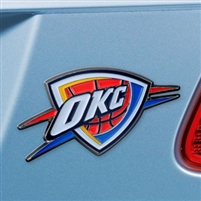 Oklahoma City Thunder Color Metal Car Emblem