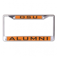 Oklahoma State Cowboys Metal Licence Plate Alumni Frame - Orange/Black