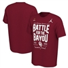 Oklahoma Sooners Jordan Brand 2019 College Football Playoff Bound Battle For The Bayou T-Shirt - Crimson