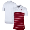 Men's Nike White/Crimson Oklahoma Sooners Striped Polo