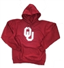 Oklahoma Sooners Crimson Cotton Hooded Sweatshirt with Twill Applique