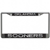 Oklahoma Sooners Black Metallic License Frame