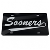 Oklahoma Sooners License Plate Black