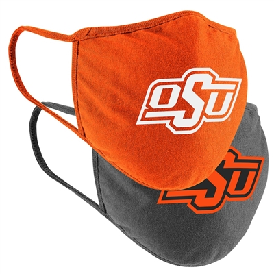 Oklahoma State Cowboys Colosseum Adult Face Covering 2-Pack