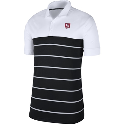 Men's Nike Oklahoma Sooners Striped Polo