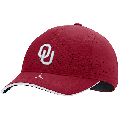 Oklahoma Sooners Youth Jordan Brand Sideline Classic 99 Performance Adjustable Hat - Crimson