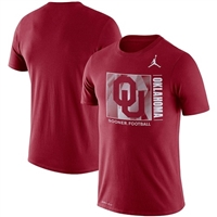Men's Jordan Brand Crimson Oklahoma Sooners Team Issue Performance T-Shirt