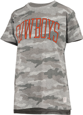 Oklahoma State Ladies Camo Tee by Pressbox