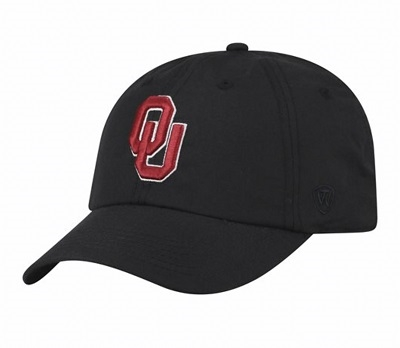 Oklahoma Sooners Crew Cap Black by Top of the World