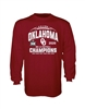Oklahoma Sooners 2020 Big 12 Champions 6 in a Row Long Sleeve