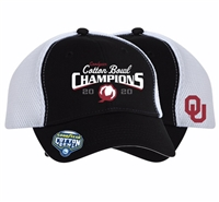 Oklahoma Sooners 2020 Cotton Bowl Champions Locker Room Adjustable Hat - Black